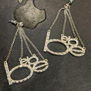 BEBE Rhinestone Earrings